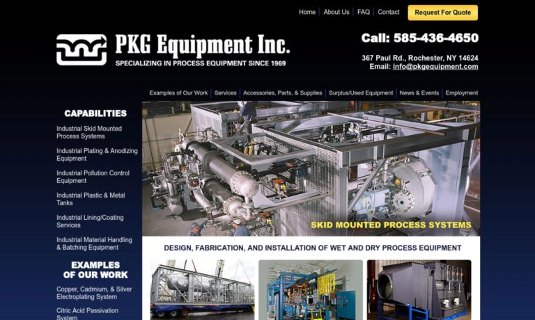 PKG Equipment, Inc.