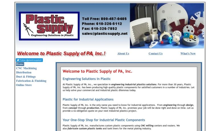 Plastic Supply of PA, Inc.