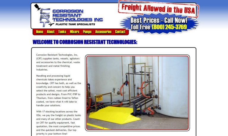 Corrosion Resistant Technologies, Inc.