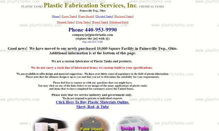 Plastic Fabrication Services, Inc.